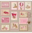 Wedding Postage Stamps vector image