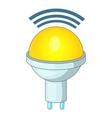 Wireless LED light icon cartoon style vector image