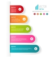 Five colored steps with different options and vector image vector image