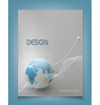 template for a business with a globe vector image