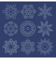 Set of white contour snowflakes vector image vector image
