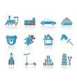 different kinds of toys icons vector image