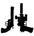 Black heavy handguns vector image