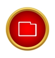 Folder icon simple style vector image