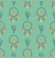 indians dream catcher temple ornament seamless vector image