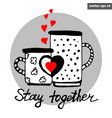 love cups vector image