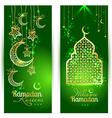 Ramadan Kareem celebration greeting card decorated vector image
