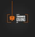 thanksgiving autumn logo design background vector image