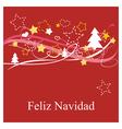 Christmas card in espanol Feliz Navidad vector image