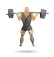 Muscle man abstract vector image vector image