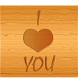 Wood texture with love vector image vector image