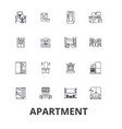 apartment building house interior flat vector image