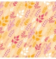 Autumn Filed In the Wind Seamless Pattern vector image