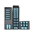 big city building icon vector image