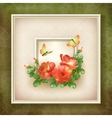 Border frame background flower butterfly design vector image