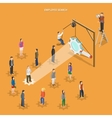 Employee search flat isometric concept vector image