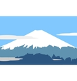 Fujiyama symbol of japan vector image