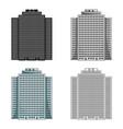 high-rise building skyscraperrealtor single icon vector image