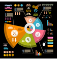 Infographics Layout with Icons - Elements on Black vector image