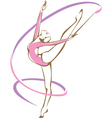 Rhythmic gymnast with a ribbon vector image