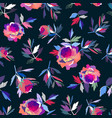 seamless abstract floral pattern pink and violet vector image