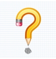 Question symbol pencil vector image