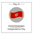 Montenegro Independence Day vector image