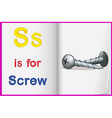 A picture of a screw in a book vector image vector image