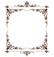 Geraldic royal fleur de lys ornate frame vector image