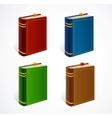 old book icon set vector image