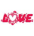 Love word vector image