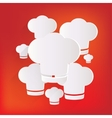 Chef cap icon Cooking hat vector image vector image