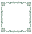 pattern frame green vector image
