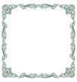 pattern frame green vector image vector image