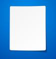 Blank paper sheet vector image