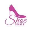 Shoe Shop Pink Logo Concept vector image