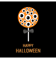 Sweet candy lollipop with eyeball set Black bow vector image