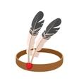 American Indian headdress cartoon icon vector image vector image