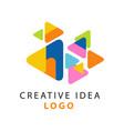 abstract creative idea logo template educational vector image