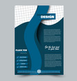 abstract flyer design background brochure vector image