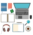 Big set of flat design items for business and vector image