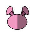 bunny faceless cartoon vector image