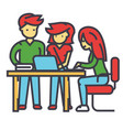 business office team meeting man and women vector image