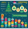 Christmas infographic with sample data vector image