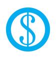 currency symbol icon vector image