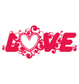 Love word vector image