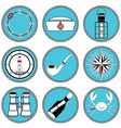 Nautical elements type 4 icons in knottet circle vector image