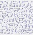 popular farm animals seamless pattern vector image