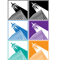 skyscrapers airline vector image