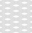 Slim gray squished hexagon with offset vector image